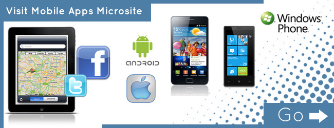 mobile application microsite