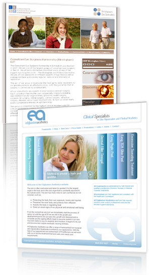 Medical Email Marketing Service - example includes BEST Eye Specialist, Edgbaston Aesthetics