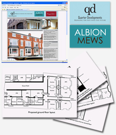 Albion Mews - Quarter Developments, Graphic Design Web Design Birmingham