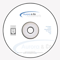 CD Rom Designed for Aurora Accountants