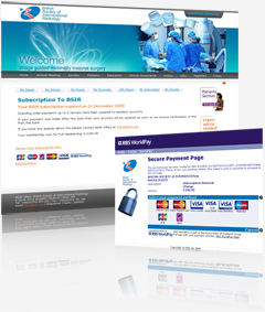 eCommerce website design for British Society of Interventional Radiology (BSIR)