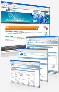 British Society of Interventional Radiology (BSIR) bespoke CMS and medical sector website design