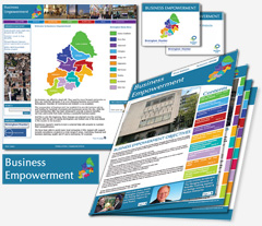 branded booklet for Birmingham Chamber of Commerce Business Empowerment