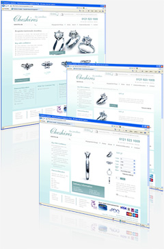 eCommerce website design for Cheshires Jewellers