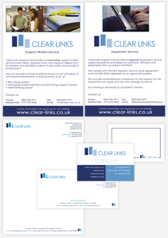 Branding, Corporate Stationery & Poster design for Clear Links
