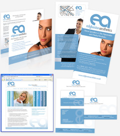 edgbaston aesthetics medical print design identity branding