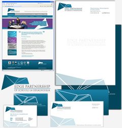 Full corporate identity branding, design and print, website design and logo design