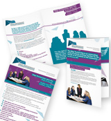 Leaflet design for The EDGE Partnerships of Schools in Birmingham
