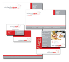 Branding & Corporate Stationery design for Midlands Tutors