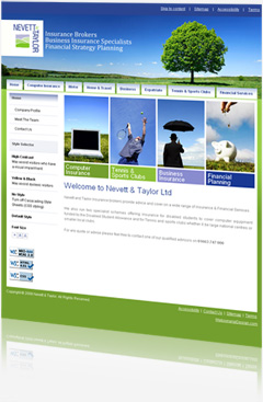 Nevett & Taylor Insurance Brokers, Insurance Financial Website