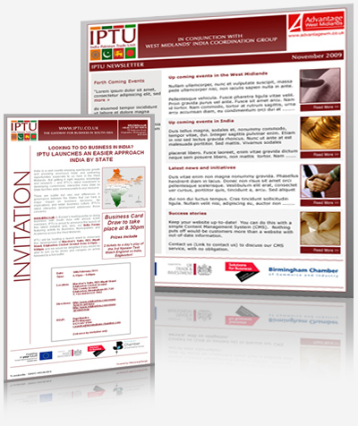 Birmingham Chamber of Commerce - Newsletter Design