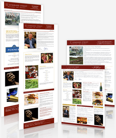 1 Lombard Street - Newsletter Design