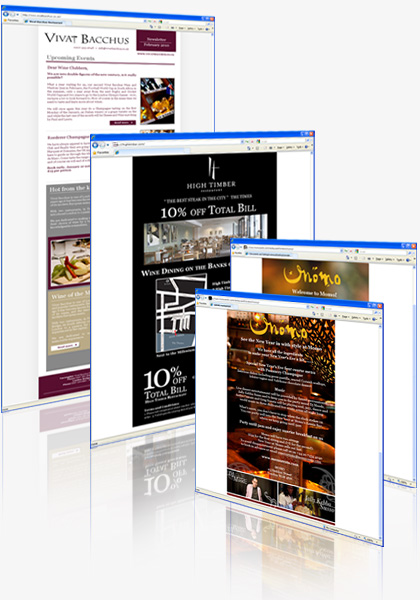 London Restaurants Email Marketing Designs
