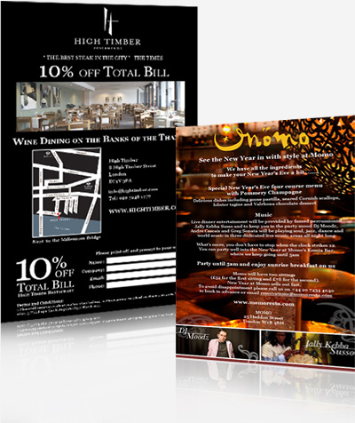 High Timber & Momo London Restaurants - eShot Campaigns