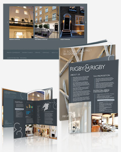 Brochure design for Rigby and Rigby