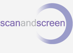 Logo design for Scan and Screen