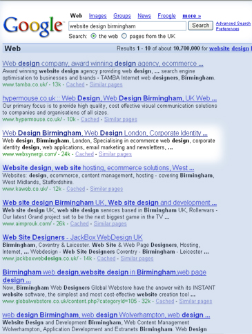 Search engine optimisation consultancy increase ranking with search engines and Directories, Birmingham, Solihull, UK.