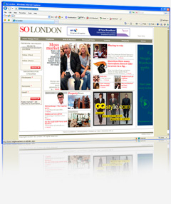Web design and content management system bespoke software for SO LONDON