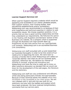 Learner Support Reference